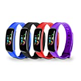 JLL W100 Smart Watch, <span class='highlight'>Fitness</span> <span class='highlight'>Tracker</span>, <span class='highlight'>Activity</span> <span class='highlight'>Health</span> <span class='highlight'>Exercise</span> Watch, 4 Band Colours, Heart Rate, Sleep Monitor, 0.96