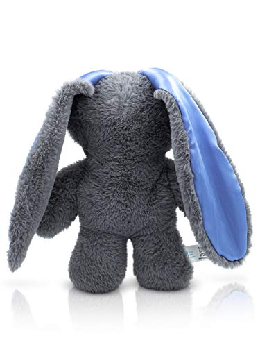 HugMeNow Bunny Plush Stuffed Animal for Boys Therapeutic Calming, Cute Lop-Eared Bunnies for Snuggling, Sleep, Plush Toys for Boys and Girls, 12 inches, Grey Plushie (Blue)