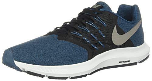 Nike Men's Run Swift Sneaker, Black/Metallic Pewter-Blue Force, 6 Regular US