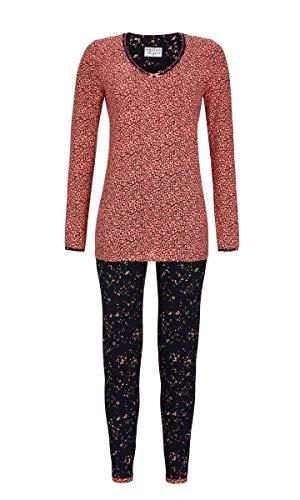 Ringella Lingerie Damen Pyjama im Mustermix Salmon Rose 48 9561203P, Salmon Rose, 48