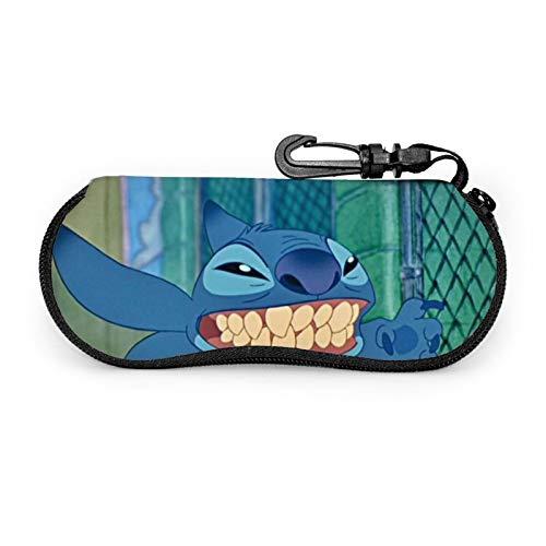 Lilo Stitch - Funda para gafas de sol suave, funda portátil para gafas de sol con clip para niñas y mujeres