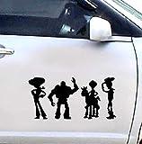 Toy Story - Woody & Buzz Lightyear - Cartoon Auto Autoaufkleber Aufkleber - 18 Cm Hoch