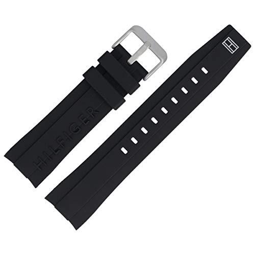 Tommy Hilfiger Uhrenarmband 22mm Kunststoff Schwarz - 679302064