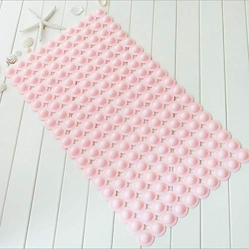 Badmatten Rechthoekige Bubbelbadmat Vorm Pvc Antislip Badmat Badmat Douchemat Voetmat Mat Latex Zuignappen Plastic Pink 40Cmx70Cm