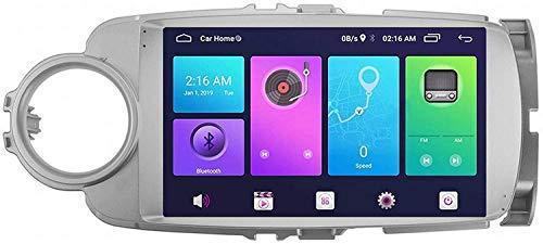 Laytte Navegación De GPS De Coche 9 Pulgadas para Juguete OTA Yaris VIOS 2012-2017 Android Pantalla Vertical MP5 Multimedia Player Receptor De Video con 4G WiFi,8core 4g WiFi:4+64gb