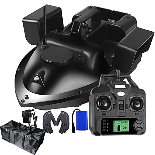 GPS Remote Control Fishing Bait Boat, 500M Remote Fish Finder Ship Large Capacity Loading RC Boat Speedboat w/Bait Boat Bag & 12000mah Battery