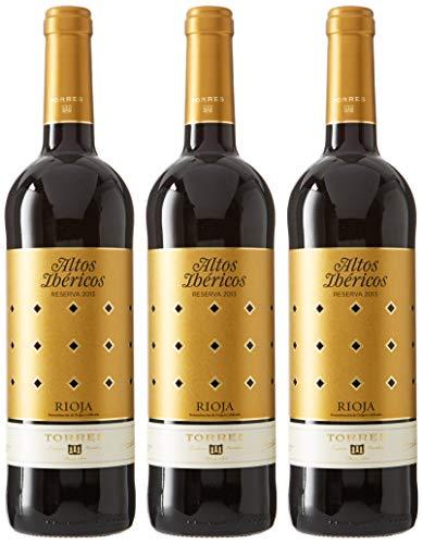 Altos Ibéricos Reserva, Vino Tinto - 3 botellas de 75 cl, Total: 2250 ml