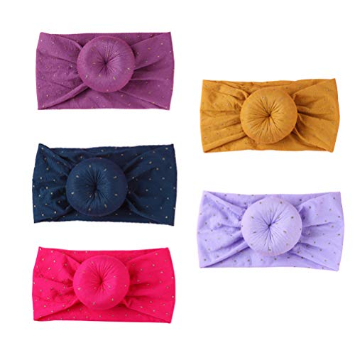 Opplei Haarbanden voor meisjes, 5 stuks, prinses, fotografie-accessoires, zachte hoofdband, hoofdband, haarelastiekjes, haarband voor baby's, meisjes, kinderen, kleine kinderen, meisjes