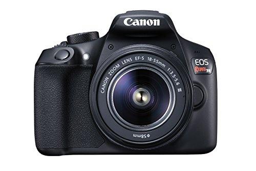 Canon EOS Rebel T6 Digital SLR Camera Kit with EF-S 18-55mm f/3.5-5.6 DC III Lens (Black)