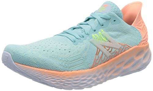 New Balance Women's Fresh Foam 1080 V10 Running Shoe, Bali Blue/Ginger Pink, 8.5 M US