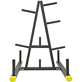 BalanceFrom 2-Inch or 1-Inch Weight Plate Rack with Barbell ...