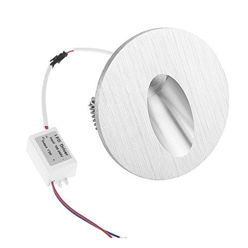 PopHMN Lámpara de pared LED empotrada, Luz de escalera LED Luz de...