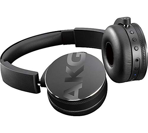 AKG C50BT - Auriculares de diadema plegables con Bluetooth, color negro