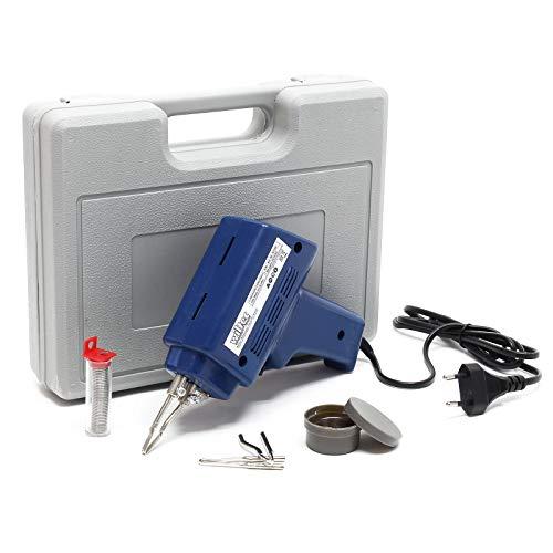 Lötpistolen-Set 100 Watt, 5-teilig im Koffer mit Lötspitzen, Lötpaste...