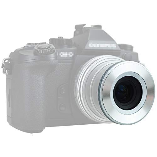 JJC 自動開閉式レンズキャップ Olympus M.ZUIKO DIGITAL ED 14-42mm F3.5-5.6 EZ & Olympus M.Zuiko Digital 17mm F2.8 & Panasonic Lumix G Vario 12-32mm F3.5-5.6 ASPH レンズ用 LC-37C 互換 銀