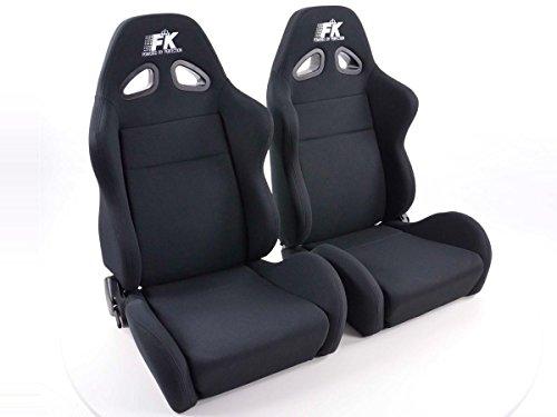 FK Sportsitze Halbschalensitze Set Sport Stoff schwarz mit Sitzheizung u. Massage