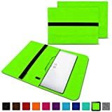 NAUC Laptoptasche Sleeve Schutztasche Hülle für Trekstor Surfbook W1 W2 Netbook Ultrabook 14,1 Zoll Laptop Filz Case, Farben:Grün