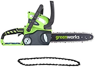 Greenworks 12-Inch 40V Cordless Chainsaw with Extra Chain, Battery and Charger Not Included 20292
