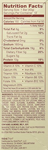 Think Thin 20 Pack (2 X Box of 10)- (Fiber Chocolate Almond Brownie)
