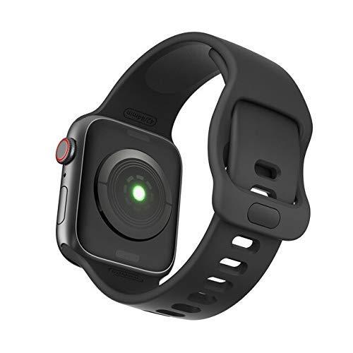 De Galen Correa para Apple Watch Band 5 38 mm 42 mm para iWatch 5 4 Band 44 mm 40 mm deporte silicona correa pulsera para Apple Watch 5 4 3 2 Loop - rojo vino - 38 mm o 40 mm correa de reloj