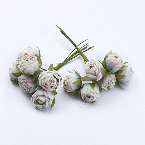 6 stks MINI thee rozen Boeket multicolor woonaccessoires kerst slinger huwelijksgeschenken doos kunstbloemen goedkoop, 4