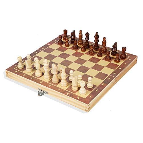 WY-KL Juego de ajedrez de Madera Plegable Tablero de ajedrez de Viaje portátil con Piezas de ajedrez magnético, Adultos y Juegos de Rompecabezas Tradicionales, un Regalo de Fiesta de Fiesta