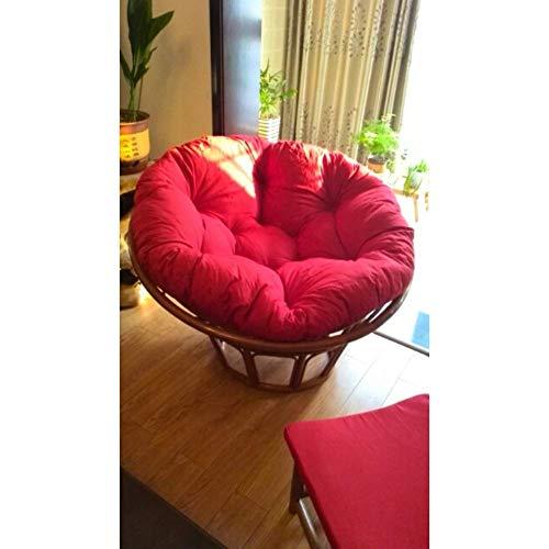 Alaeo Egg Hammock Pillow Thicken Round Basket Swing Chair Pillow Cushion Rocking Pad Hanging Basket Hammock Home Office Papasan-60x60cm(24x24inch) C