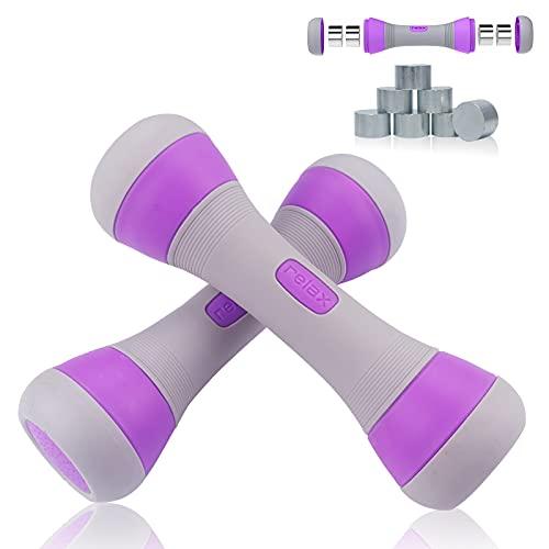 MEckily Hanteln Set Kurzhanteln Verstellbar, Ergonomisch Gewichte Hantel mit Rutschfester Gummi Fitness Dumbbells für Damen und Männer für Krafttraining Fitnesstraining Muskeltraining