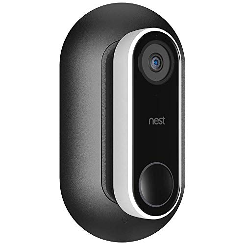 Aobelieve Wall Plate with 35-Degree Wedge for Nest Hello Video Doorbell (Black)