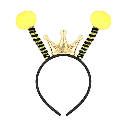 Amosfun Party Bopper Antenna Headband Insect Hair Address Bee Ant Ladybug Hair Band Kids Adult Costume Accessories Birthday Party Favors (Black)