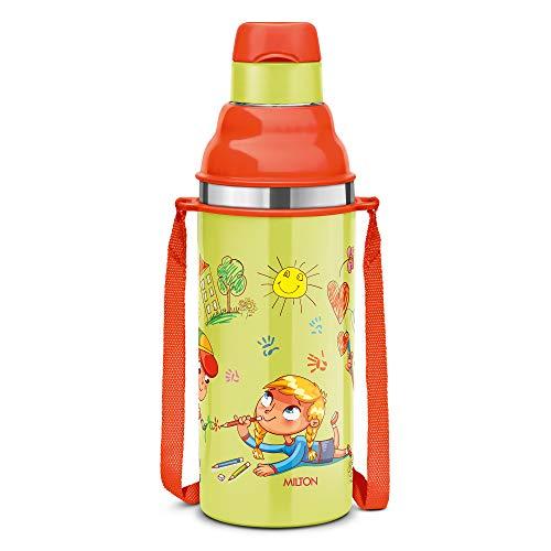 Milton Kool Stunner 400 Insulated Inner Steel Water Bottle for Kids, 400 ml, Sea Green