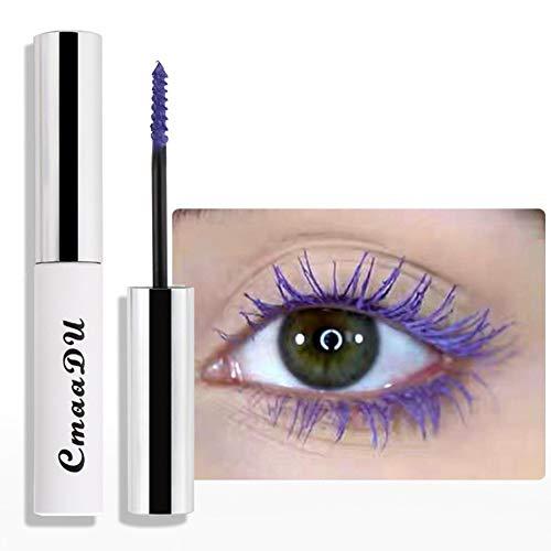 ARTIFUN Larga Duración 24H Mascara Impermeable Crema de Rimel Colorida sin Manchas para Maquillaje de Ojos