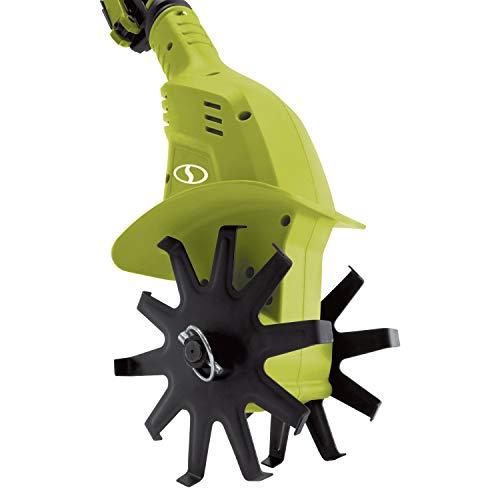 Sun Joe 24V-TLR-LTE 24-Volt Amp Cordless Garden Tiller + Cultivator, Kit (w/2.0-Ah Battery + Quick Charger)
