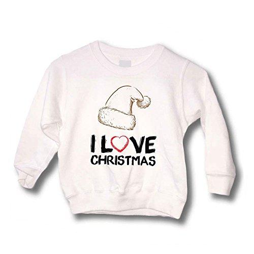 Altra Marca Felpa Bimbo Maglione Natalizio Personalizzato Bambino Cappello I Love Christmas