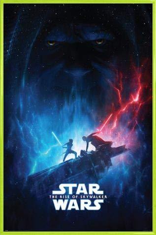1art1 Star Wars Póster con Marco (Plástico) - Episodio IX El Ascenso de Skywalker Galactic Encounter (91 x 61cm)