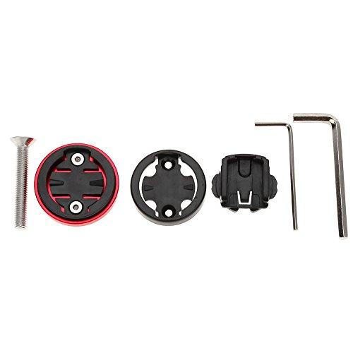 Tbest Support de Montage de chronomètre d'ordinateur de Chapeau de Dessus de Tige de vélo Replacement pour Garmin/Bryton/Cateye(Red)