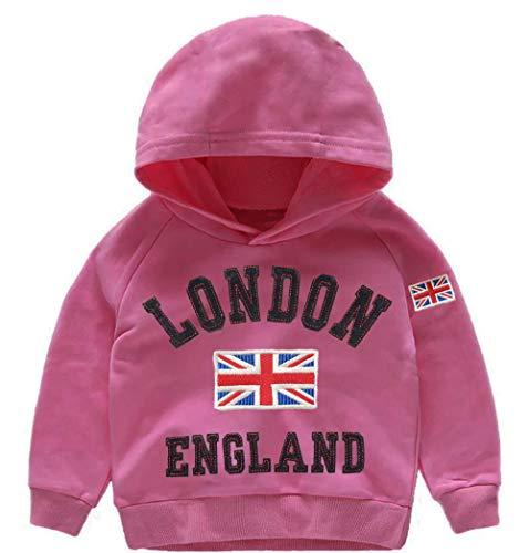 Sudadera de algodón con capucha de Londres Inglaterra Union Jack Reino Unido bandera recuerdo niños bebé crecer regalo sudaderas sudadera unisex