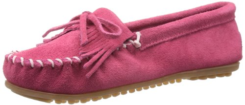 Minnetonka Kilty Suede Moc 401, Damen Mokassins, Pink (Hot Pink), EU 38 (US 7)