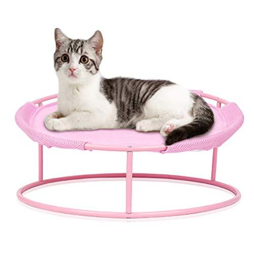 iFCOW Katzen-Hängematte, abnehmbare Katzen-Hängematte, Haustier-Eisengestell, Bett für Katzen, Welpen, Kaninchen