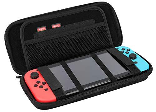mumbi Universal Konsolentasche Shockproof Carrying Case Hülle schwarz für u.a. Nintendo Switch