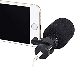 Comica CVM-VS08 Professional Cardioid Condenser Directional Mini Shotgun Microphone for Smartphones,Vlogging Microphone for iPhone and YouTube Video (Wind Muff Included)