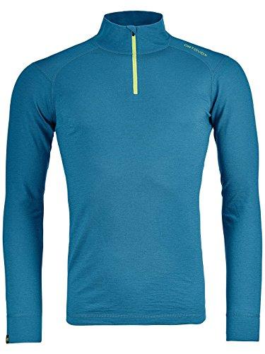 ORTOVOX Herren 145 Ultra Zip Neck Shirt, Blue Sea, S
