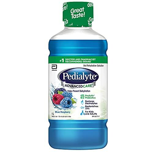 Pedialyte® AdvancedCareTM Solution d'électrolyte liquide Framboise bleue 1 l