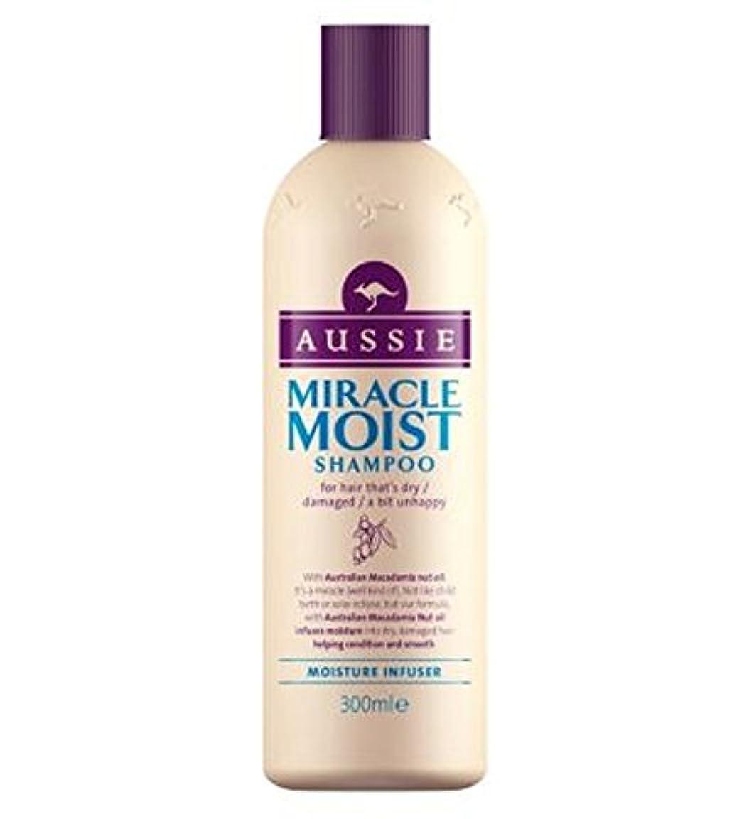 地下室アナウンサー課税オージー奇跡湿ったシャンプー300ミリリットル (Aussie) (x2) - Aussie Miracle Moist Shampoo 300ml (Pack of 2) [並行輸入品]