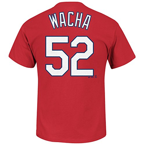 Majestic St. Louis Cardinals Michael Wacha MLB Player Name & Nummer T-Shirt (Scarlet), scharlachrot, Small