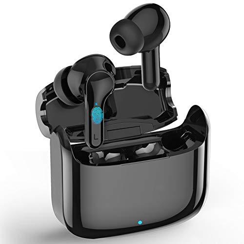 Bluetooth Kopfhörer, In Ear Bluetooth 5.0 Kabellos Wireless Earbuds, HiFi Stereo Sound Ohrhörer mit CVC 8.0 Geräuschisolierung, Sports Headset mit 32 Stunden Spielzeit, IPX7, für Arbeit und unterwegs