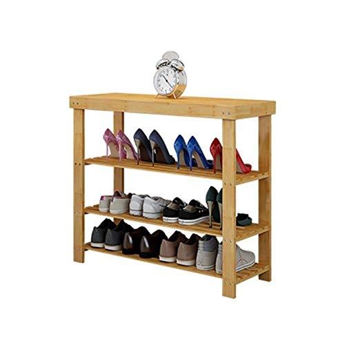 GYCS Gabinete de Zapatos Minimalista Moderno de 3 Capas Hecho de bambú Natural, estantes, Estante de baño, Pasillo (tamaño: 68 * 27 * 70 cm)