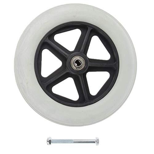 Durable 8 inch Front Castor Wielen Rollator Rolstoel Wielen Vervanging Zilver AOD
