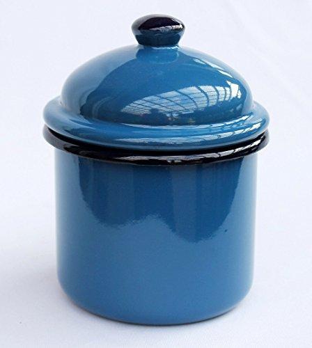 DanDiBo Aufbewahrungsdose 501Z Blau Dose 15 cm emailliert Vintage Landhaus Mehlbüchse Em