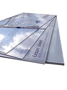 Policarbonato (vidrio acrílico, plexiglás*) [1000 x 600 mm] Placa incolora, placas.